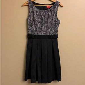 Black and gray cocktail dress